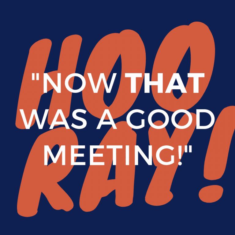 How to run Effective Meetings
