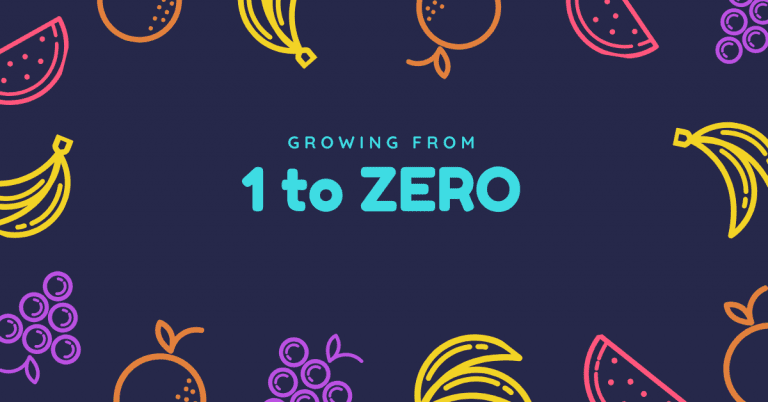 Growing from 1 to zero